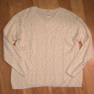 Sundance cream knit pullover sweater